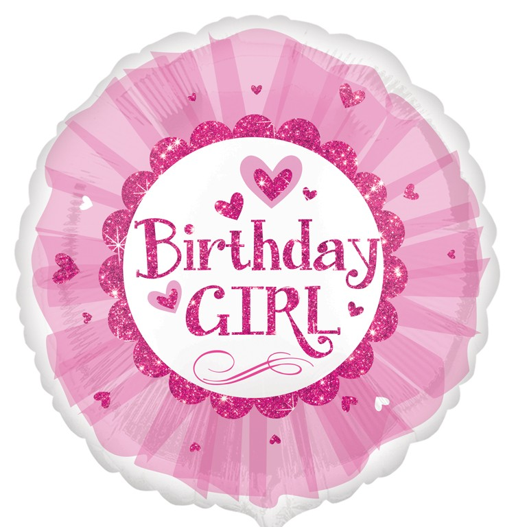 Birthday Girl Pink Sparkle Tutu Mylar Balloon