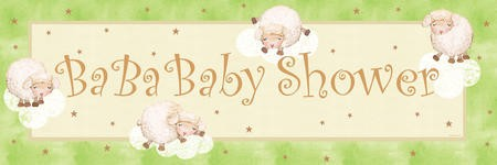 Ba Ba Baby Giant Party Banner