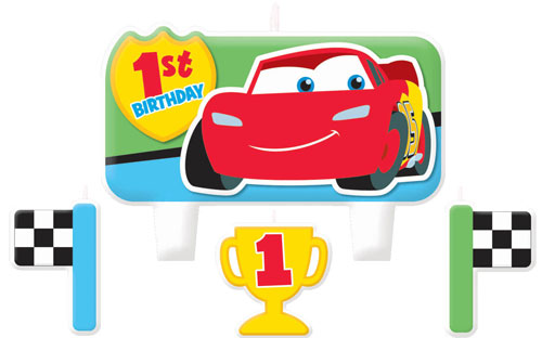 Disney Car 1st Champion Birthday Candle Set