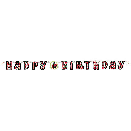 Lady Bug BirthdaySmall Jointed Banner