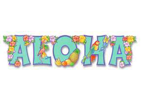 ALOHA Large Jointed Banner