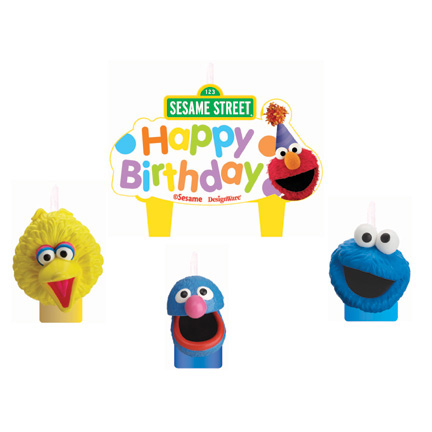 Sesame Street Birthday Molded Candle Set