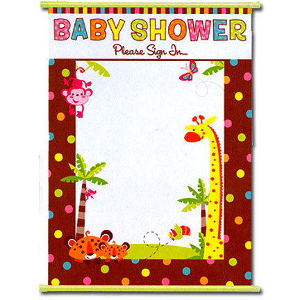 FISHER PRICE BABY SIGN IN SHEET