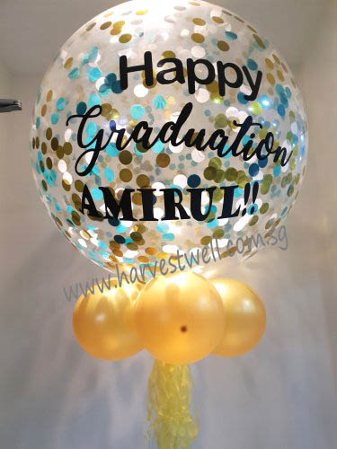 Personalized Jumbo Graduation Helium Latex Balloon
