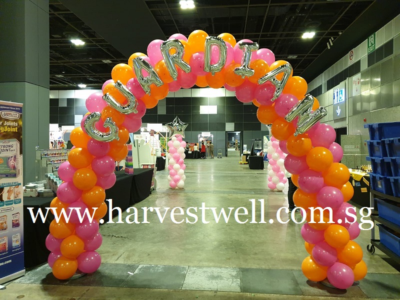 Balloon Arch with Mini Alphabets