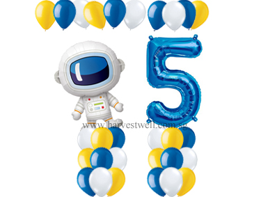 Astronauts Themed Age Balloon Value Package