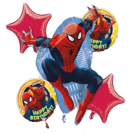 Spiderman Birthday Balloon Package