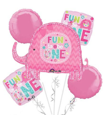 Baby Girl Fun To Be One Balloon Bouquet