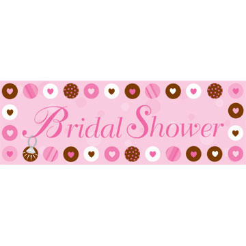 BRIDE 2 BE DOTS GIANT BANNER