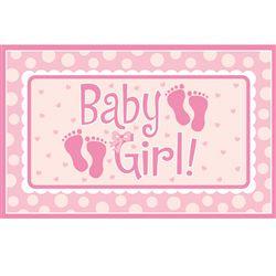 BABY GIRL GIANT PARTY SIGN