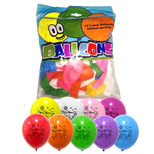 Happy Children's Day Printed Latex Balloon Value Pack