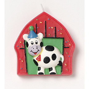 Barnyard Bash Birthday Molded Candle