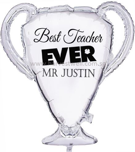 Trophy Best Teacher Customized Balloon Size: 23""