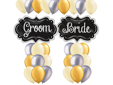 Bride and Groom Balloon Value Package