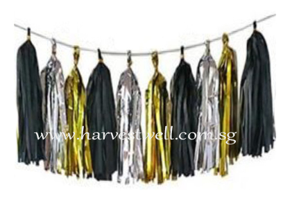 Black Themed Tassel Garland