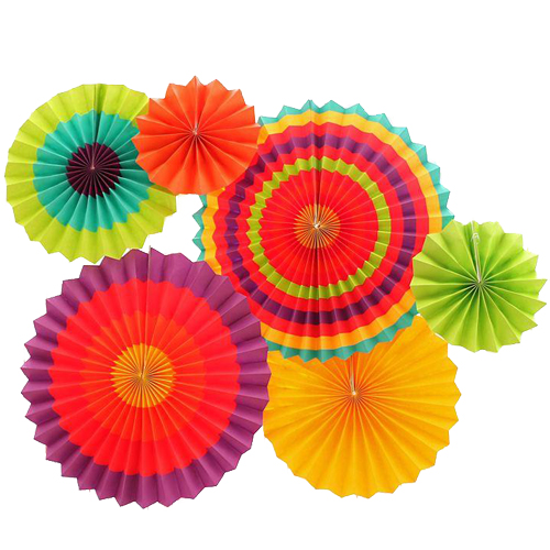 Bright Color Paper Fan D.I.Y Set