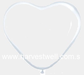 DIAMOND CLEAR HEART SHAPED Helium Latex Balloon