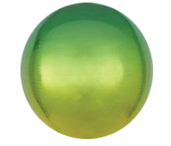 Ombre Green Yellow ORBZ Foil Balloon