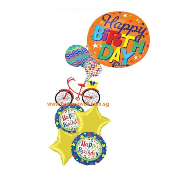 HBD Bicycle & Present (A)Balloon Package