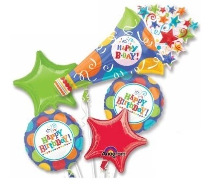 Birthday Party Horn Balloon Package