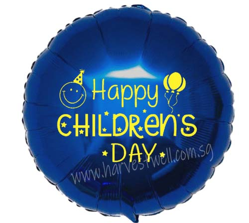 "Customize Print Children's Day on 18"" Foil Balloon"