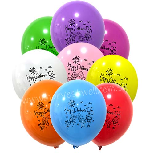 Happy Children's Day Printed Helium Latex Balloon