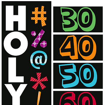 HOLY BLEEP BIRTHDAY PARTY PERSONALIZE BANNER