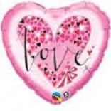 Love (Pink) Mylar Balloon