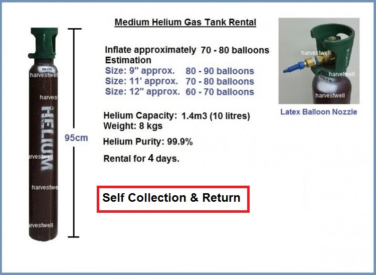 Medium Helium Gas Tank (10 Litres) Store Pickup