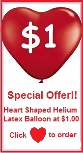 Online Promotion - Heart Shaped Helium Latex Balloon