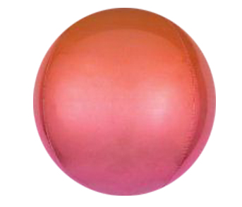 Ombre Orange Red ORBZ Foil Balloon