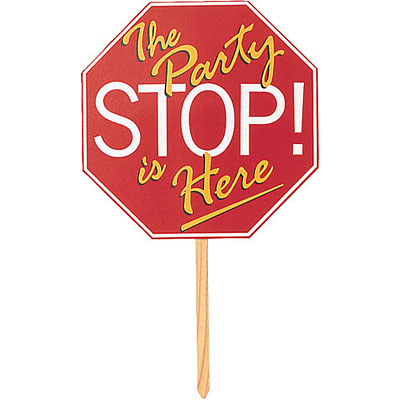 STOP SIGN YARD SIGN