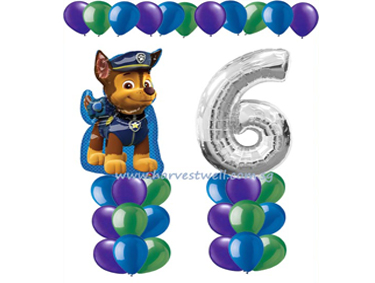 Paw Patrol Chase Balloon Value Package