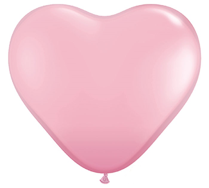 PINK HEART SHAPED Helium Latex Balloon