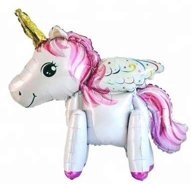 Mini Walker Pink Unicorn (Air-filled) Balloon