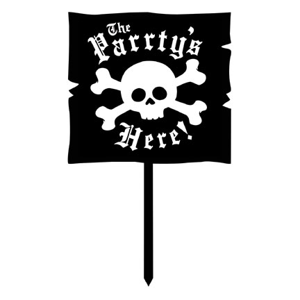 Pirate Party! Yard Sign