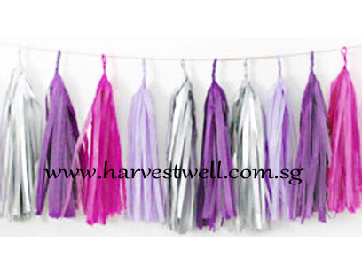 Purple Lover Tassel Garland