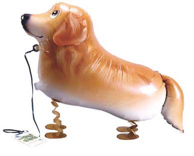 Walking Pet Dog Balloon - Golden Retriever