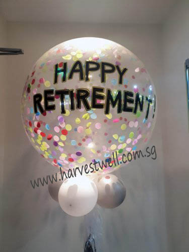 Personalized Jumbo Retirement Helium Latex Balloon