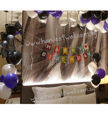 Joyous Bedroom Balloon Decoration Package