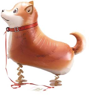 Walking Pet Dog Balloon - Shiba-Inu