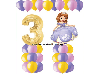 Sofia The First Balloon Value Package
