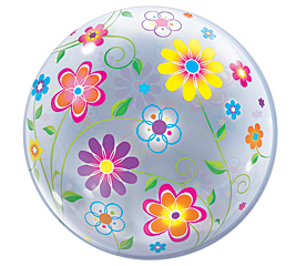 Spring Floral Bubble Balloon