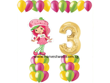Strawberry Shortcake Balloon Value Package