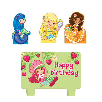 Strawberry Shortcake Birthday Candle Set