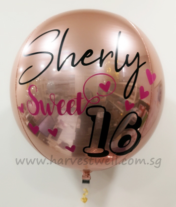 Customize Sweet 16 ORBZ Balloon