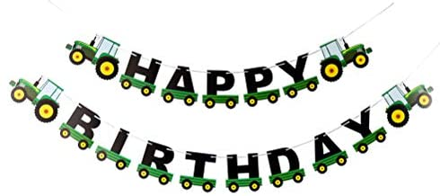 Tractor Happy Birthday Jointed Banner