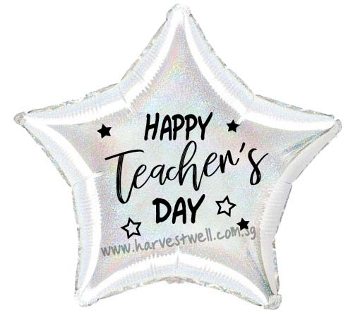 "Customize Print Teacher's Day on 18"" Foil Balloon"