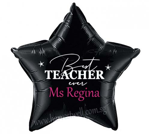 "Customize Print Best Teacher Ever on 18"" Foil Balloon"