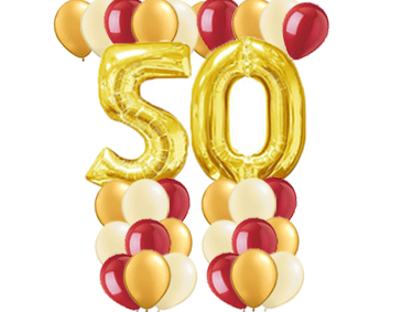 50th Gold Balloon Value Package